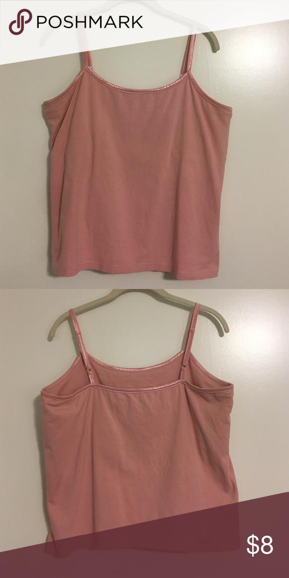 Pink tank with adjustable straps&shelf bra Pink tank with adjustable straps and shelf bra- Tops Tank Tops