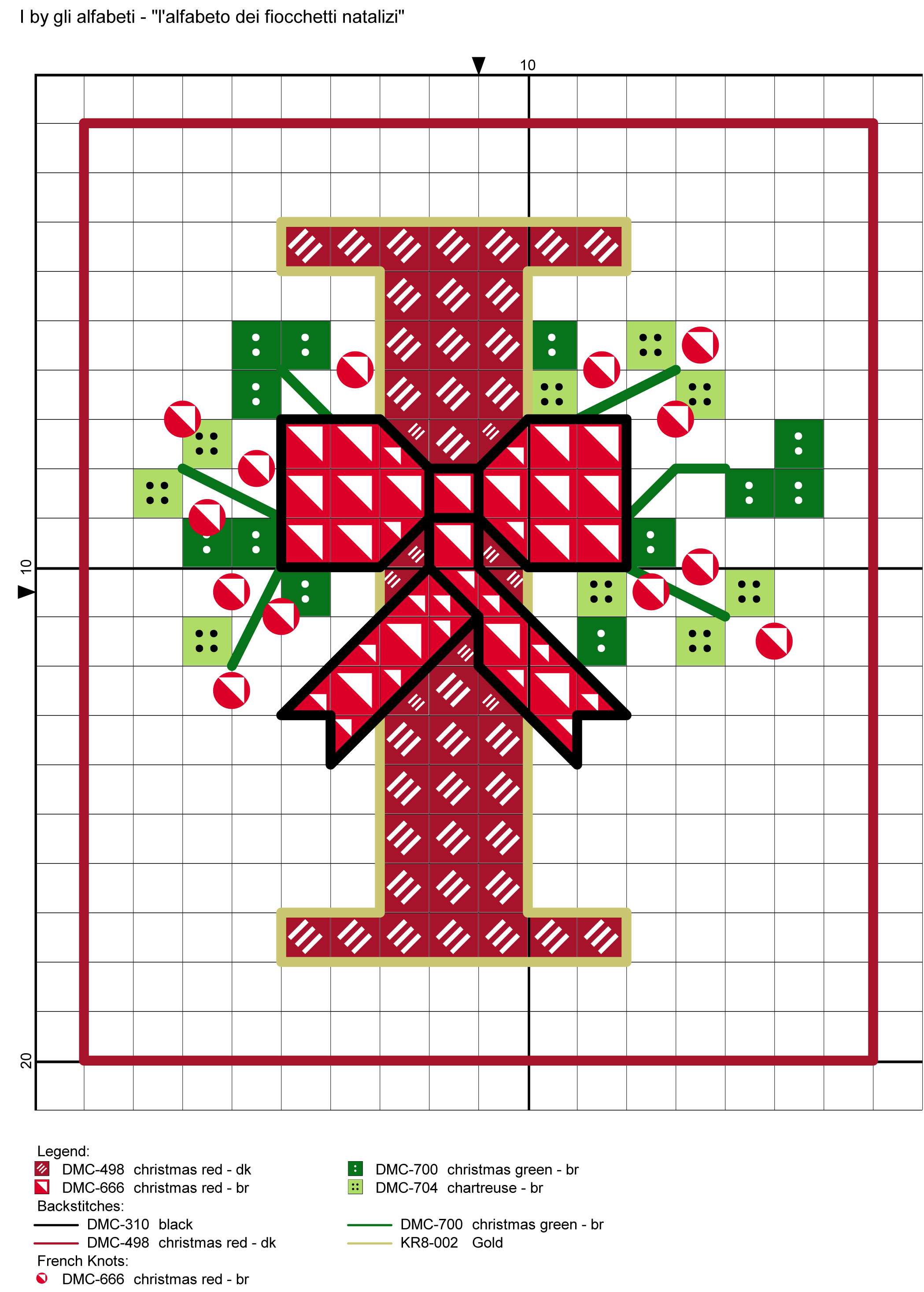 alfabeto dei fiocchetti natalizi I | Christmas Needlwork | Pinterest ...