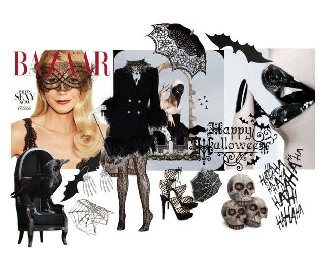 """""""bats and cats"""" by ellenchristine-ny ❤ liked on Polyvore featuring Masquerade, Charlotte Olympia, Avenue, Louis Féraud, Bernard Delettrez, Remedios and Amrita Singh"""