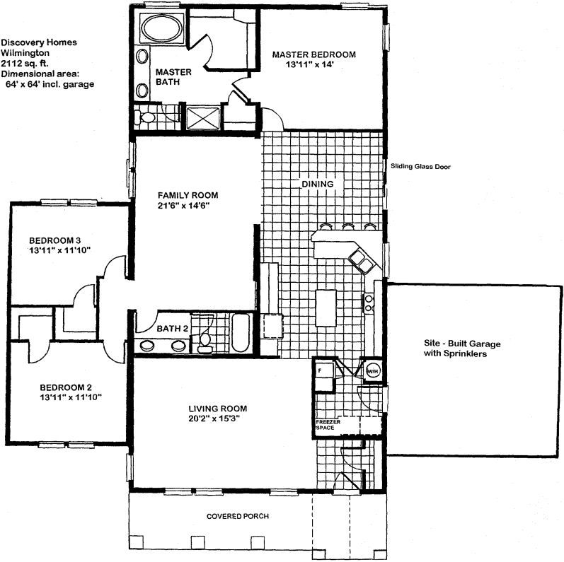 Floorplan Wilmington Delete 2 Bedrooms And Add A Screen