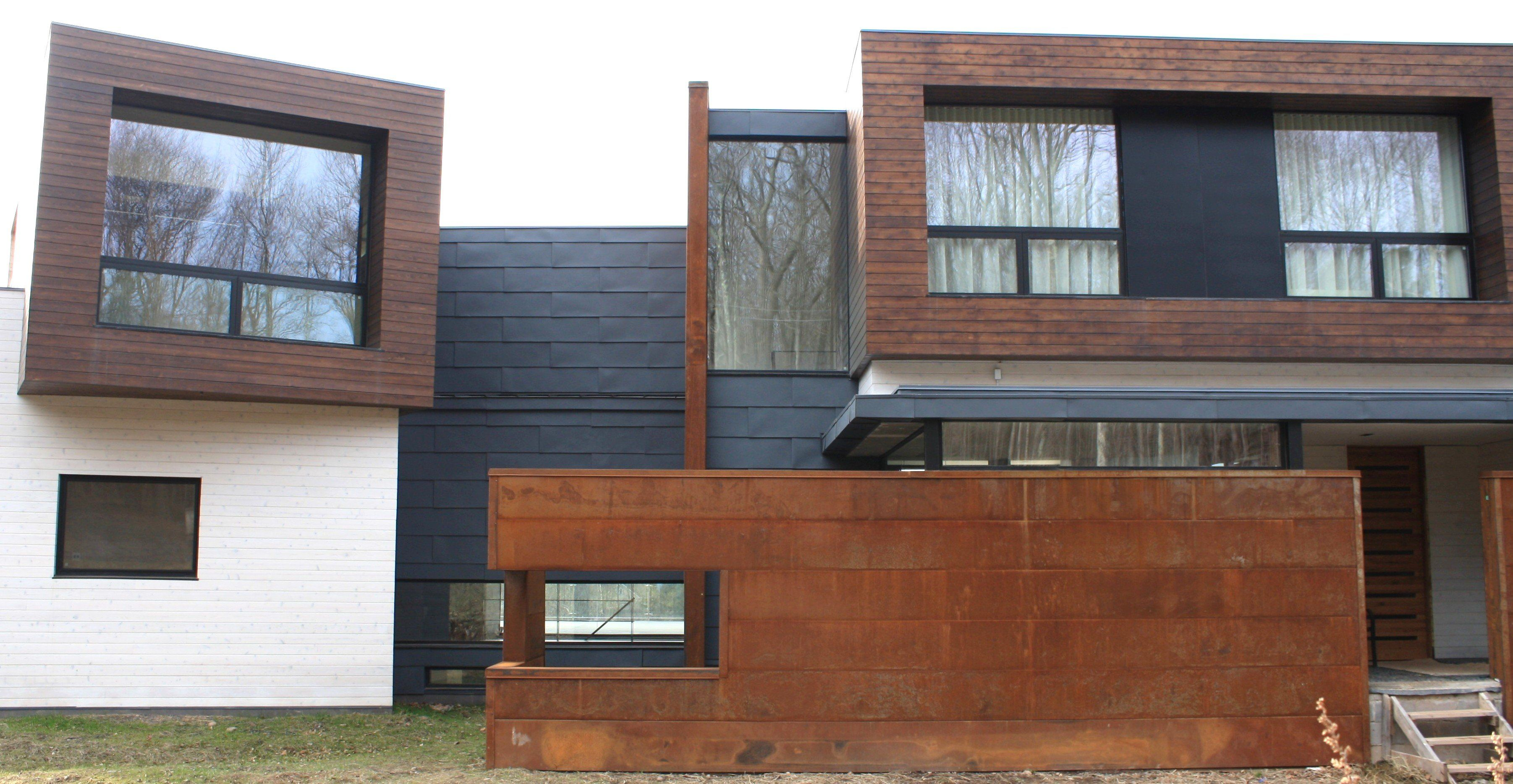 Image Of Corrugated Steel Siding Dimensions Exterior Wall Panels Steel Siding Wooden House Design
