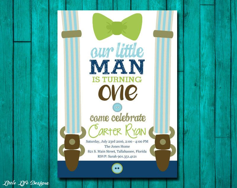 Little Man First Birthday Invitation Little Man Party Mustache Suspenders Bow Tie Party First Birthday Invitations Little Man Party Birthday Invitations