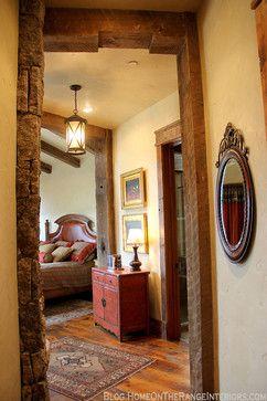 Western Mine Style Home - rustic - Bedroom - Denver - Lynne Barton Bier - Home on the Range Interiors