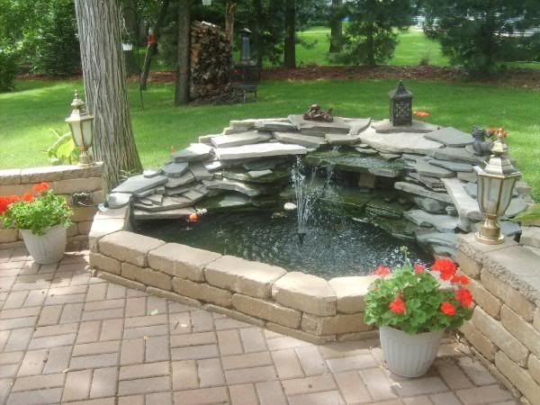 how to build a small garden pond with waterfall