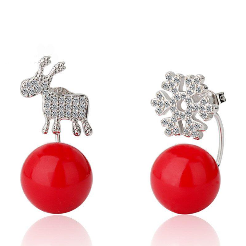 Sterling Silver 925 Ear Studs With Deer Stud Earrings For Women Fashion Jewelry