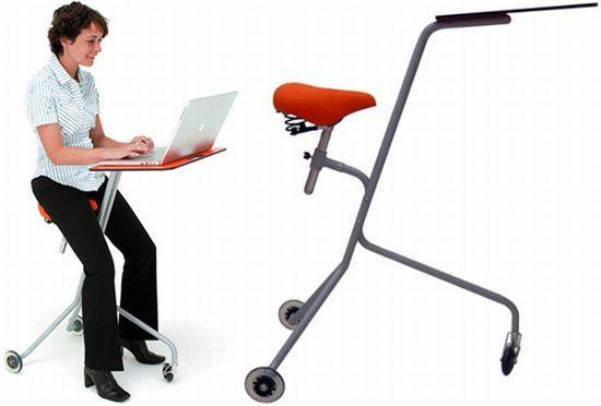 Mobile Desk Lets You Move Freely Around Your Workplace S Izobrazheniyami Idei Rabochee Mesto