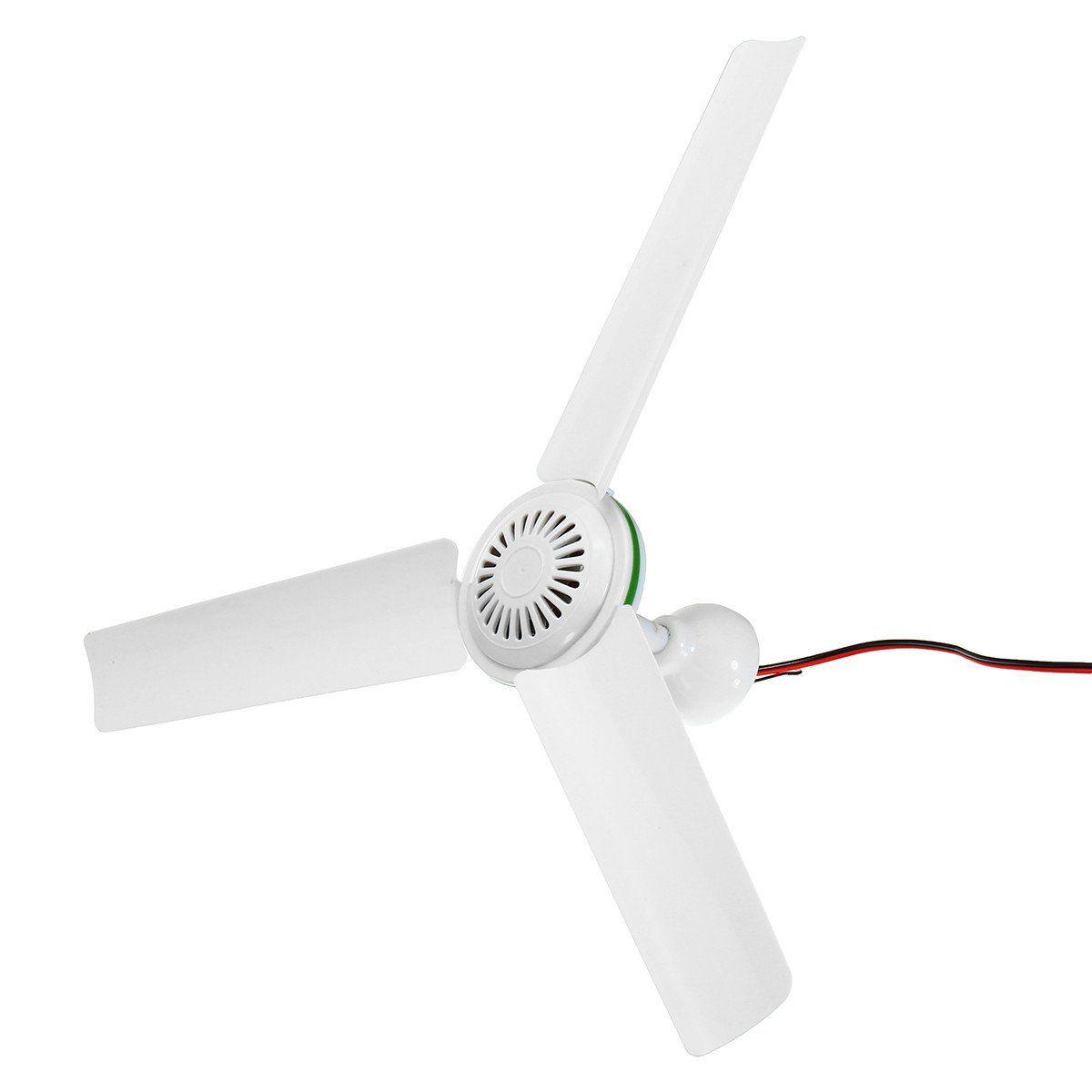Dc 24v Solar Power Ceiling Fan Portable Solar Fan With Switch 3