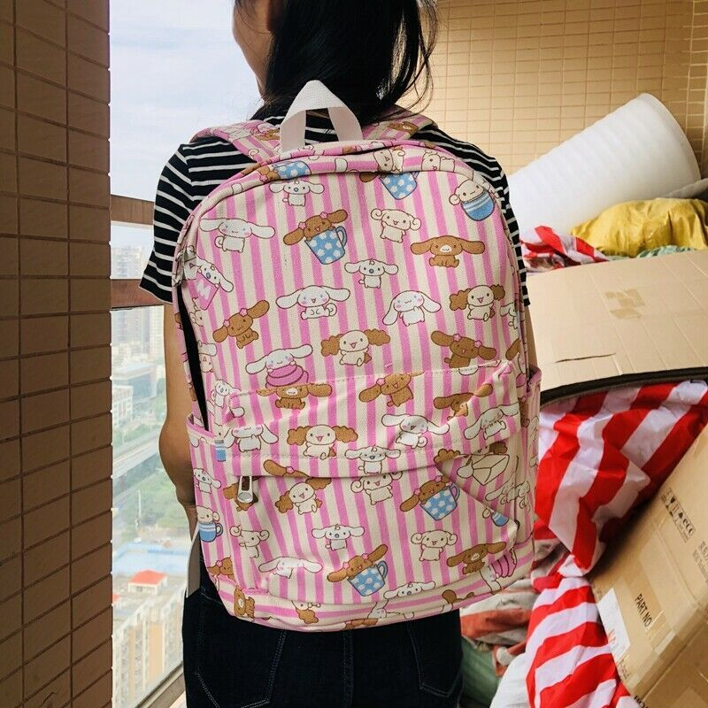 "Mickey minnie big eye 15/"" backpack travel tote laptop school bags anime new"