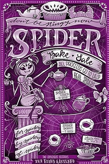 Spider Bake Sale Flyer For Sale On Fangamer  Undertale Party
