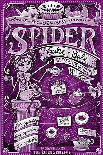 Spider Bake Sale flyer for sale on fangamer Undertale Party - bake sale flyer