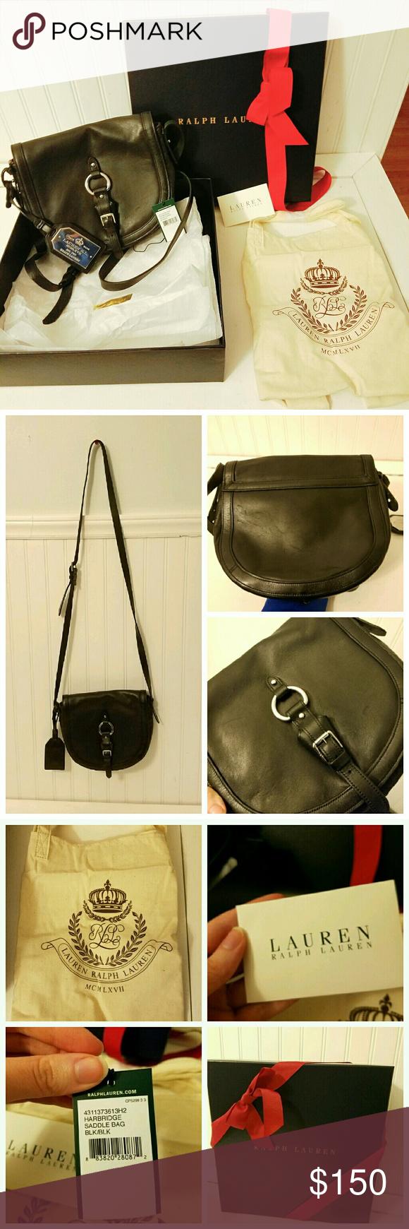 Selling this Lauren Ralph Lauren Harbridge Saddle Bag Black on Poshmark! My  username is  hffmeissner.  shopmycloset  poshmark  fashion  shopping  style  ... f2e25316c8