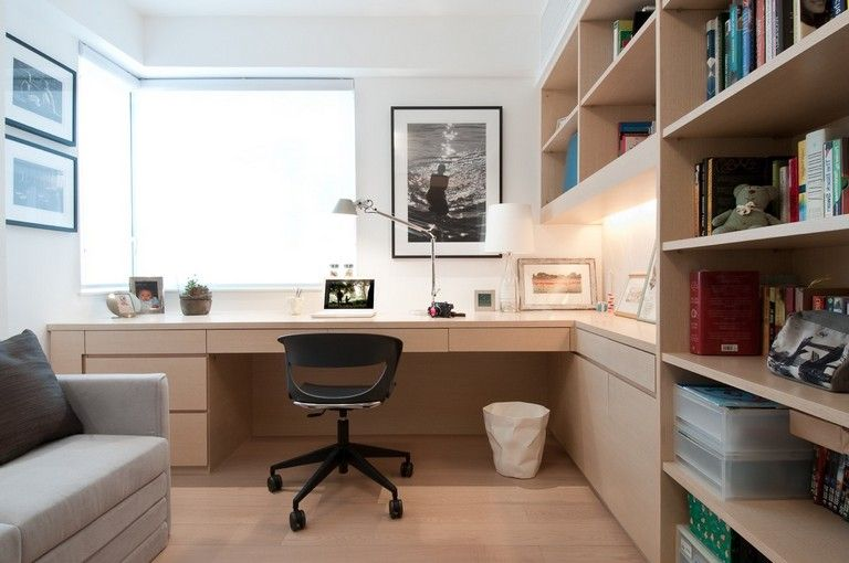 20 Elegant Home Offices That Sport Simple But Stylish Workspaces In 2020 Home Office Design Modern Home Office Modern Home Offices