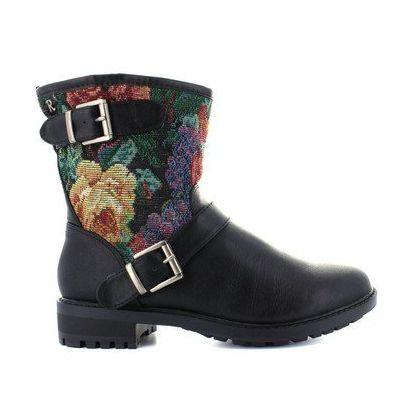 Boots für Damen REFRESH 61188 COMBINADO NEGRO Schuhgröße 38 - Stiefel für frauen (*Partner-Link)