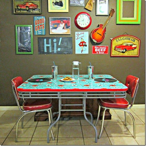 Refinished Retro 50\u0027s Diner Table and Chairs : 50s diner table set - pezcame.com