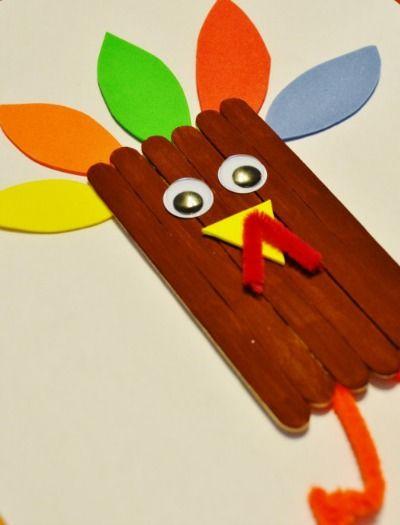thanksgiving turkey craft sticks craft for kids pinterest turkey
