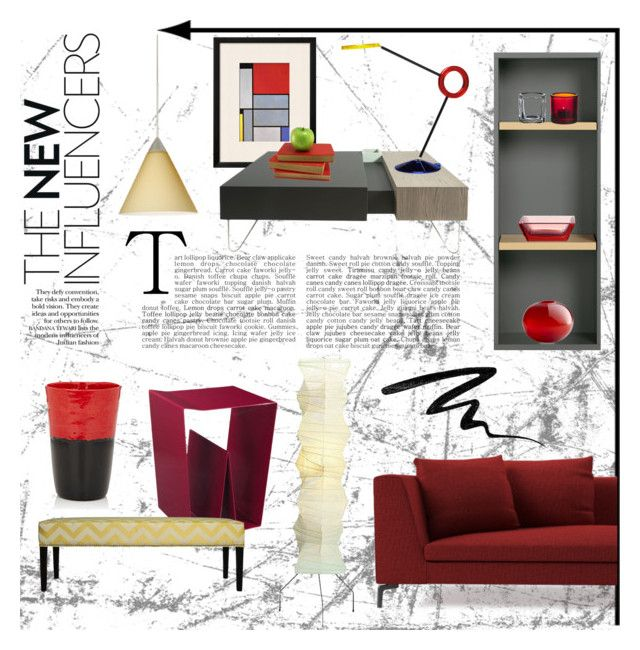 """""""Red + Yellow #3"""" by sally-simpson ❤ liked on Polyvore featuring interior, interiors, interior design, home, home decor, interior decorating, Besa Lighting, Ex.t, Vitra and Sole Designs"""
