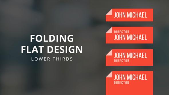 folding flat design lower thirds template design ideas pinterest