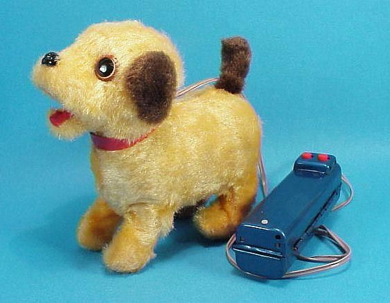 Battery Operated Puppy.  the one I had walked, stopped & barked, then did a flip.