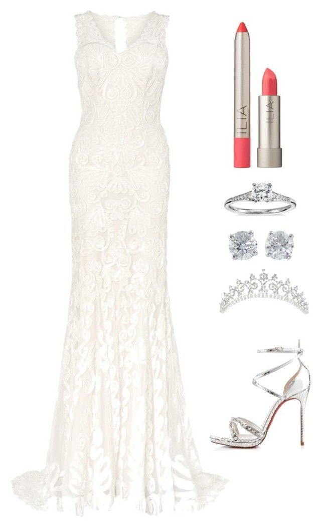 """Sem título #12"" by manuhfacchini ❤ liked on Polyvore featuring Phase Eight, Ilia, Tiffany & Co., Blue Nile and Christian Louboutin"