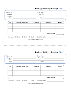 Package Delivery Receipt Package Delivery Delivery Packaging