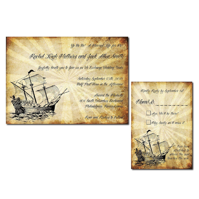 40 Unique Wedding Invitation Designs - DzineBlog.com   pirate ...