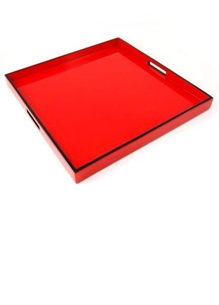 Red Trays Coffee Table Tray Ottoman