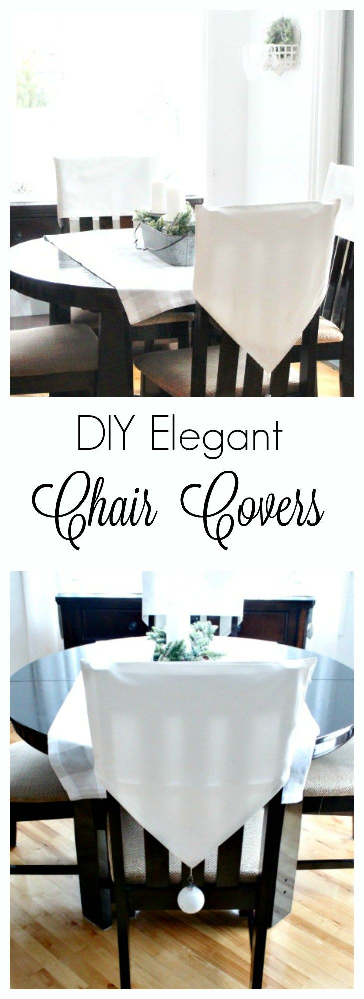 Diy Chair Back Covers Perfect For Dressing Up Kitchen Chairs Chair Back Covers Diy Chair Covers Christmas Chair Covers