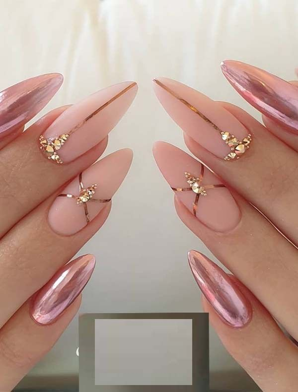 30 cute nail design ideas for stylish brides #cute #nail #design #ideas #stylish #brides