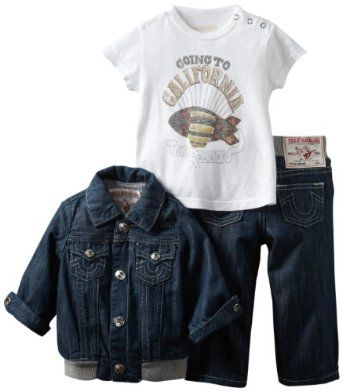 True Religion Unisex Baby Infant 3 Piece Box Set Fashion