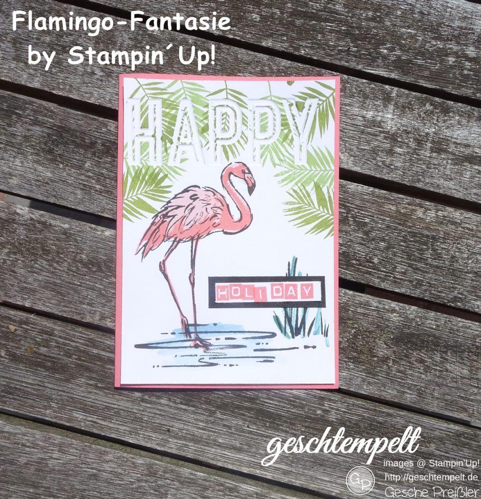 Mein Swap für Thailand | geschtempelt, Stampin Up, Famingo Fantasie, Celebrations Duo, Fabolous Flamingo, Labeler Alphabet