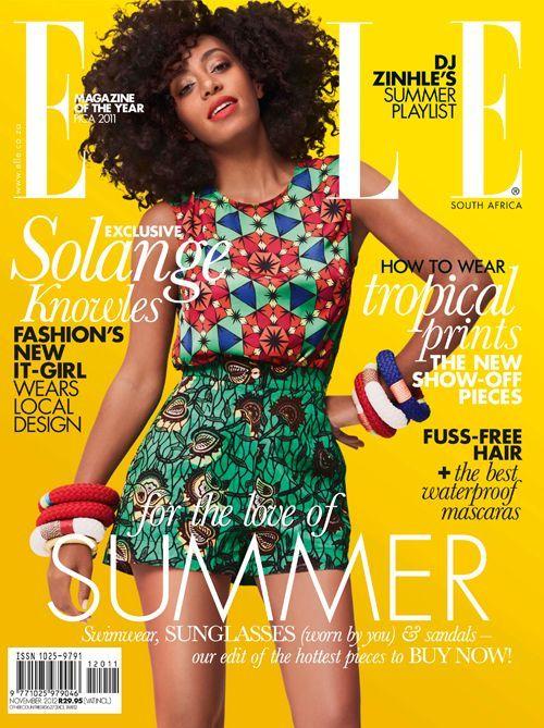 Solange Knowles Elle magazine