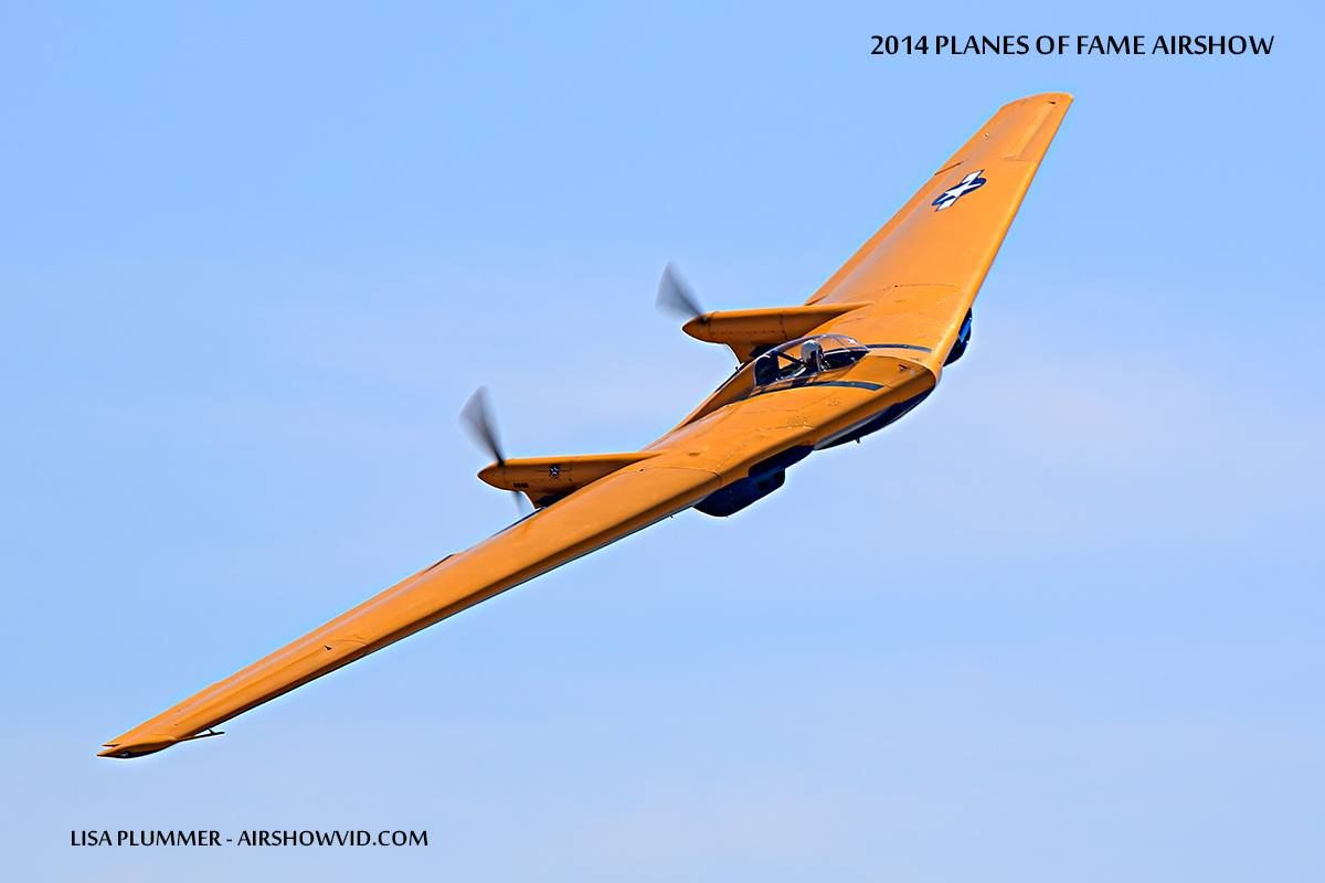 The N9MB Flying Wing at our 2014 Planes of Fame Air Show. Photo courtesy of Lisa Plummer