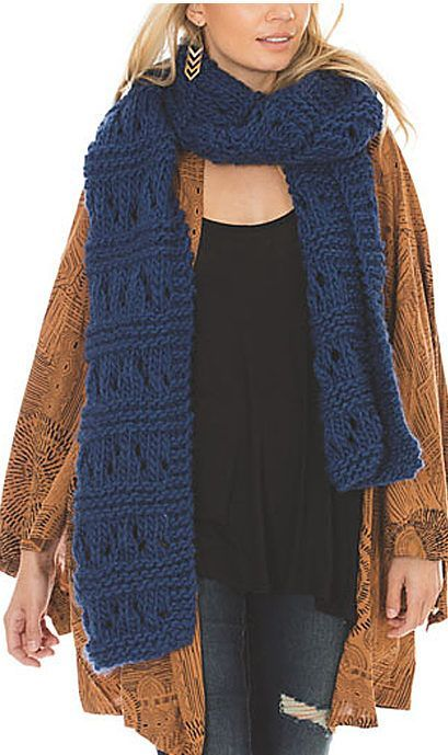 Free Knitting Pattern For Easy Bette Super Scarf Easy Scarf Knit