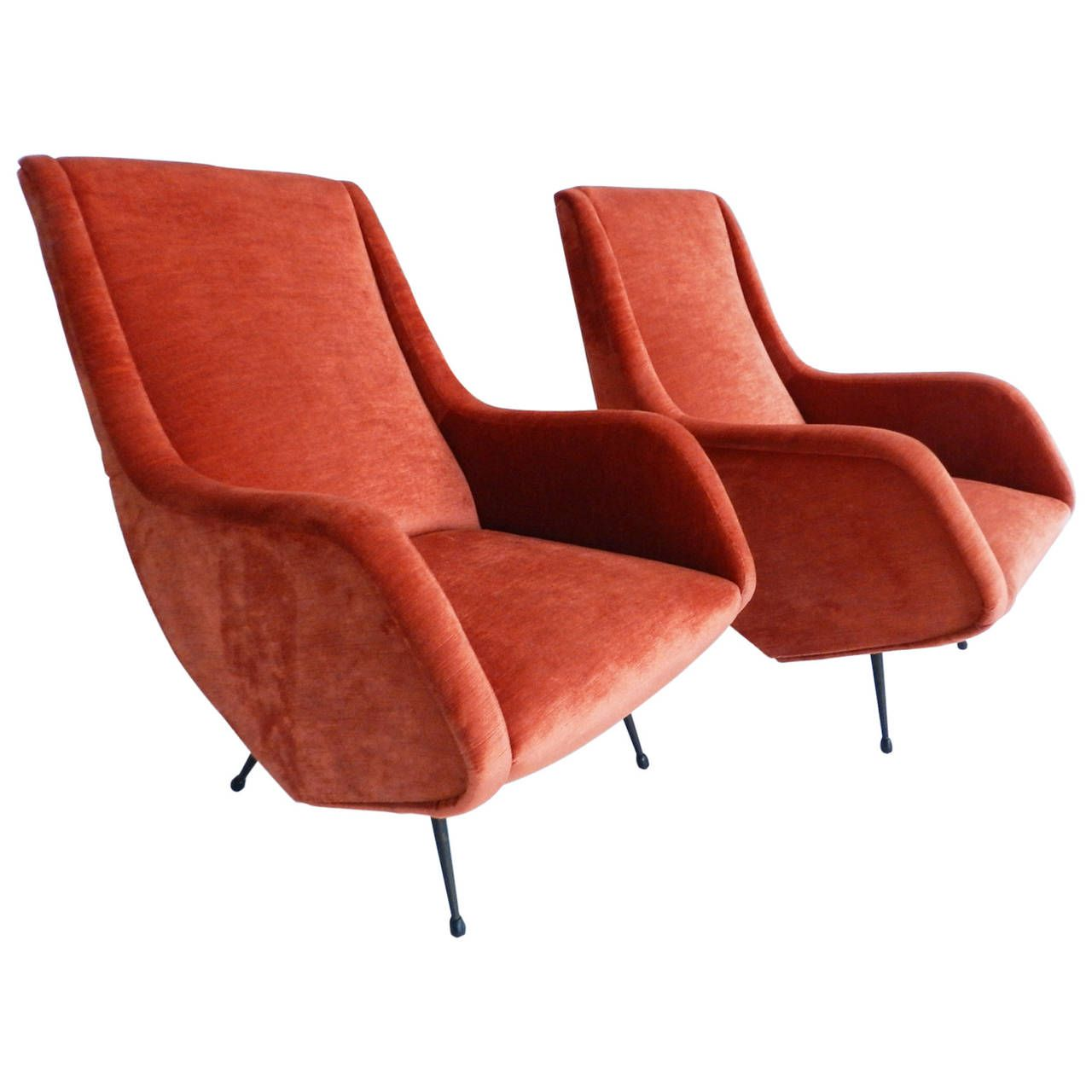 Delicieux Two Armchairs Designed By Aldo Morbelli, Edited By ISA Italy, 1950s | From  A Unique Collection Of Antique And Modern Lounge Chairs At ...