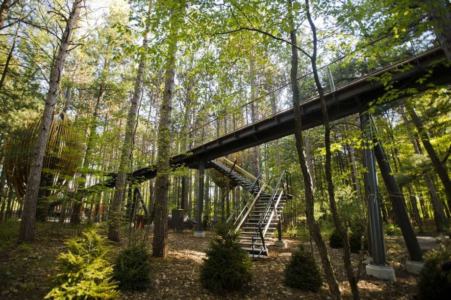 Longest Canopy Walk In The U S Opens This October In Midland Midland Michigan Midland Vacation Trips