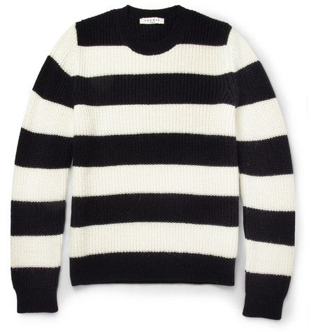 db3ada087f83cb Sandro Striped Knitted Crew Neck Sweater | MR PORTER | misc clothes ...