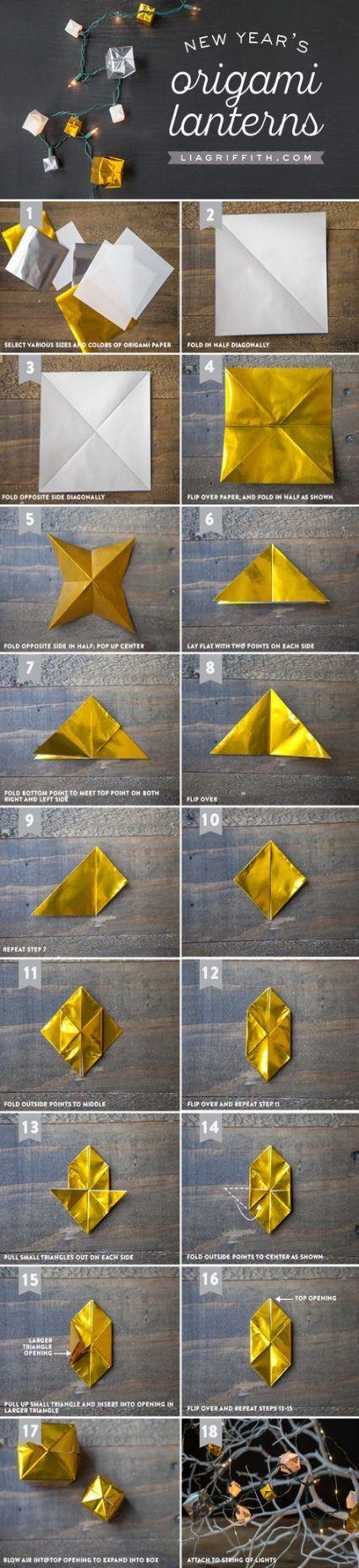 Photo of 20 ideas origami box diy christmas lights for 2019