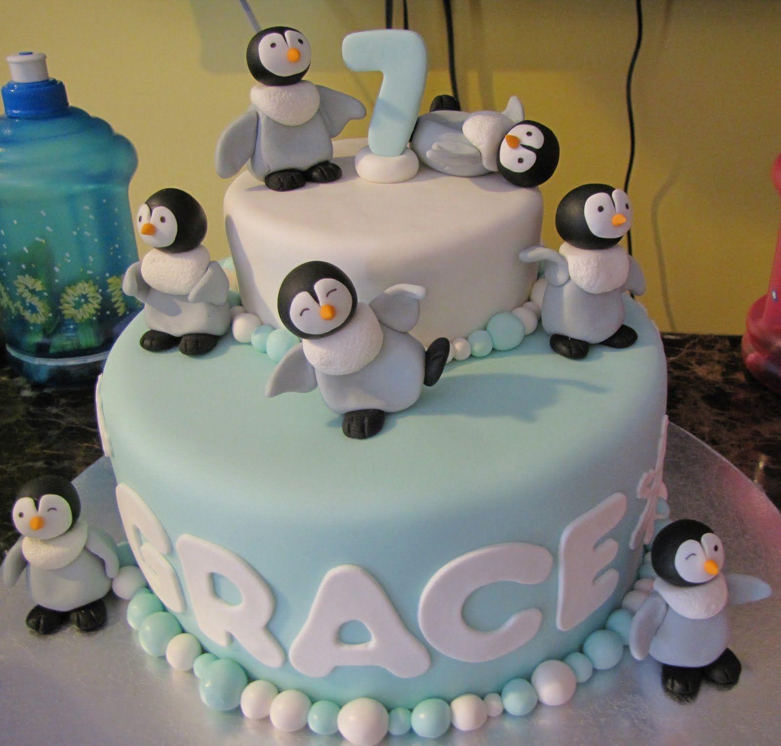 penguin birthday cakes   Birthday Cakes For You: Penguin cake