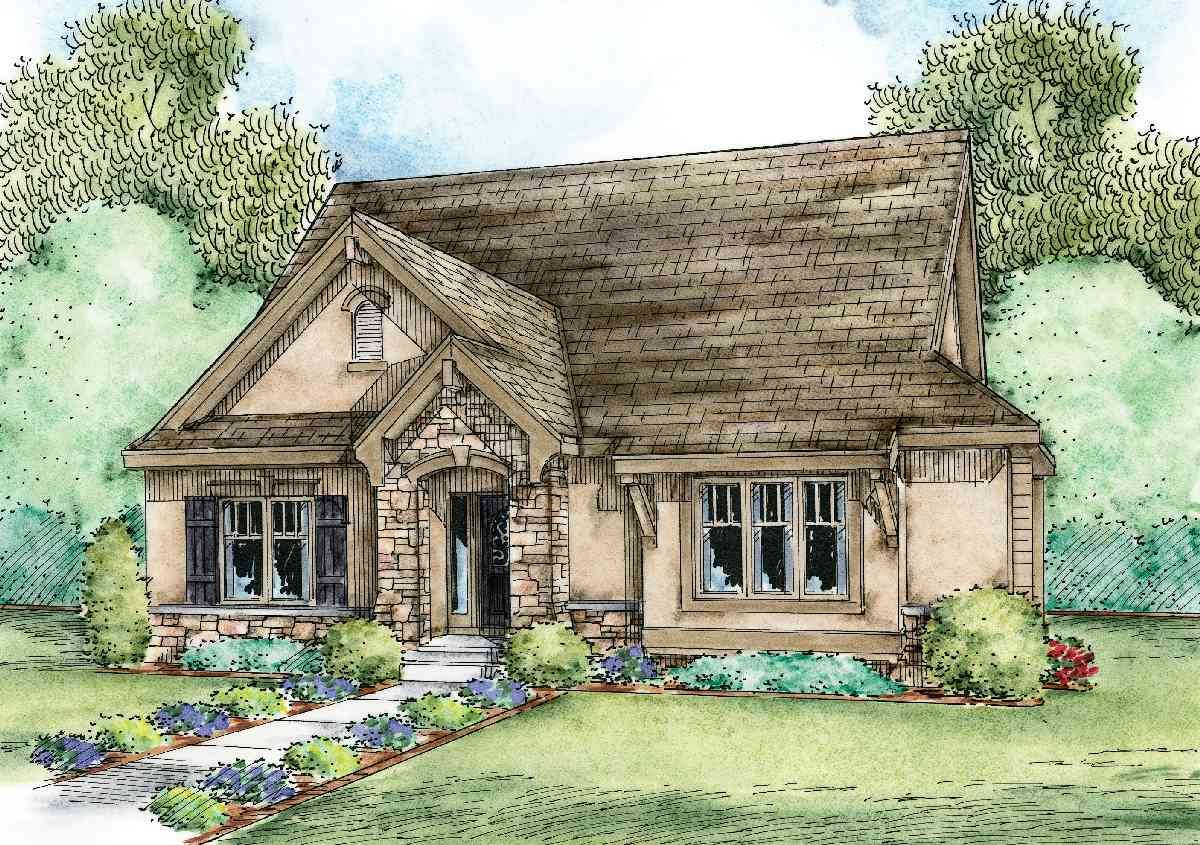 Plan 42346db European Cottage With Optional Lower Level In 2021 Small Cottage House Plans Cottage House Plans Country Cottage Decor