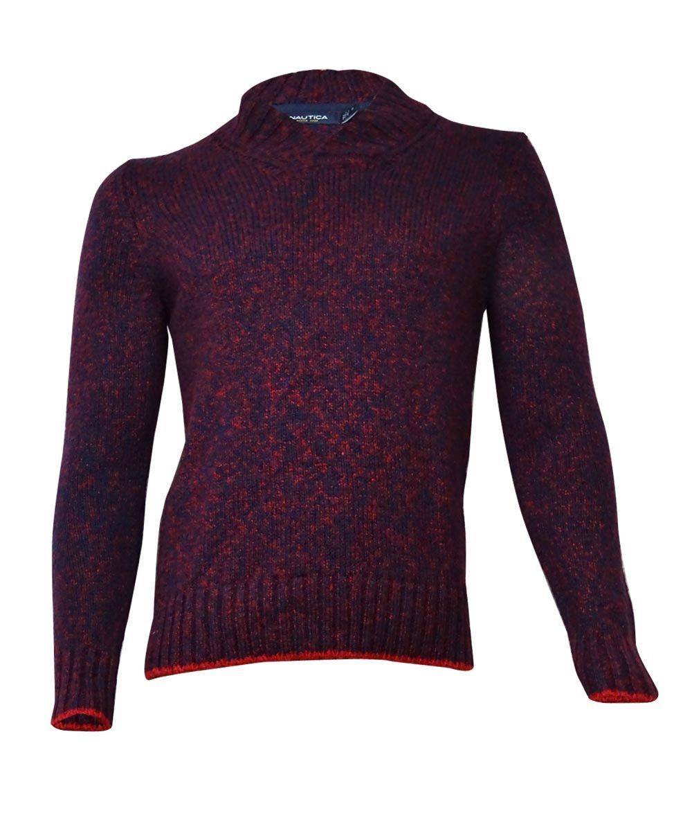 Nautica Men's Shawl Collar Marled Sweater (XL, Ribbon Red) | Products