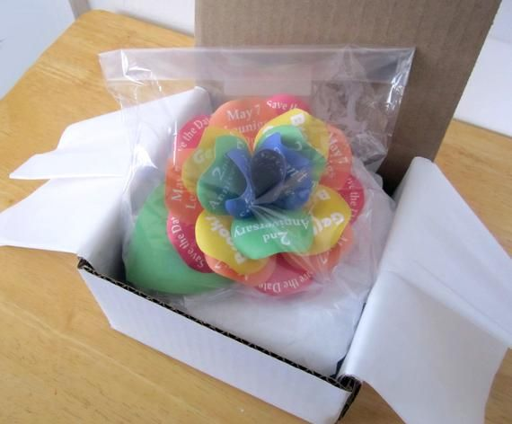 Rainbow Invitation Paper Rose with Magnet and Packaged for Mailing  Rainbow Rose Save the Date or Bi #rainbowroses
