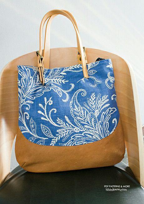 730 Ana Bag PDF Pattern-ithinksew.com | Crafts handbags | Pinterest