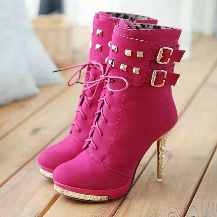 Hot Pink Ankle Boots                                                                                                                               ᖽ•Ꮰ੬ℕട❜̋ᗷѳꂷɬίǪṳ̈ℯ•ᖾ