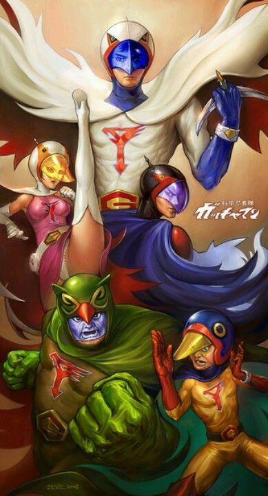 Kagaku Ninjatai Gatchaman aka Battle of the Planets aka G-Force The beginning of my anime adventure!!