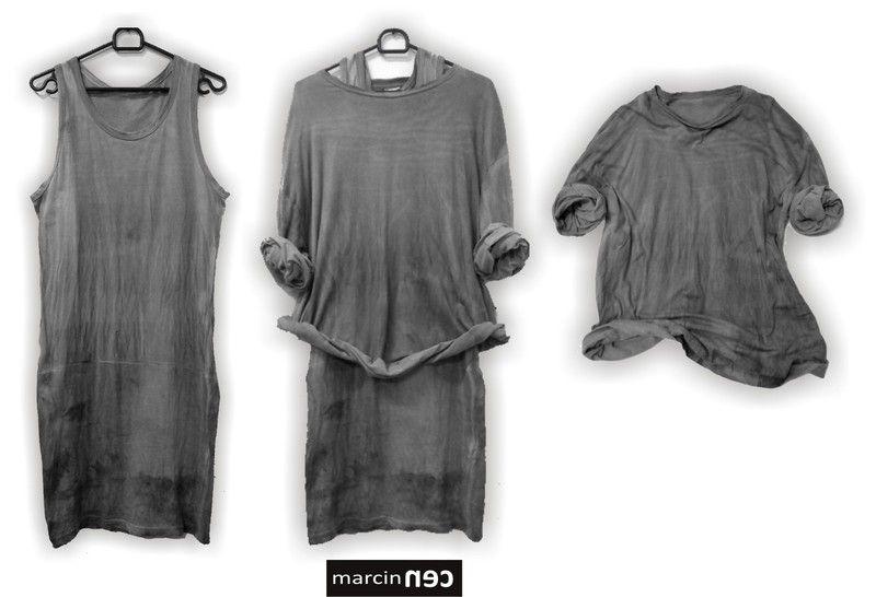 Zestaw SET OF GRAY t-shirt + sukienka w marcinec na DaWanda.com