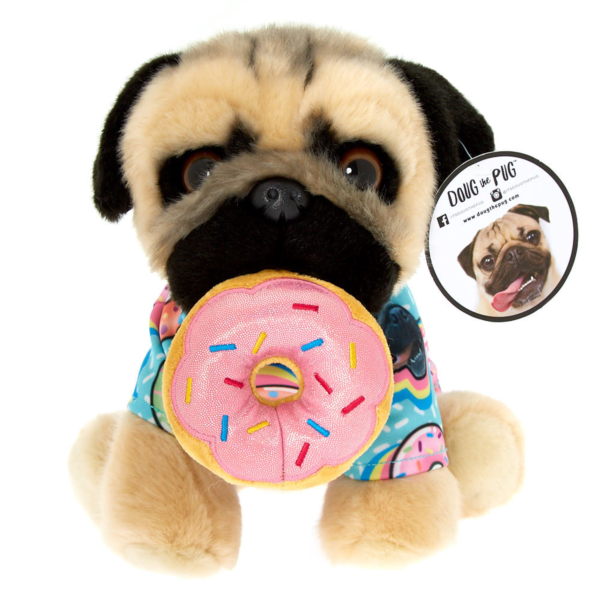 Doug The Pug C Donut Medium Plush Toy Cream Doug The Pug Pugs