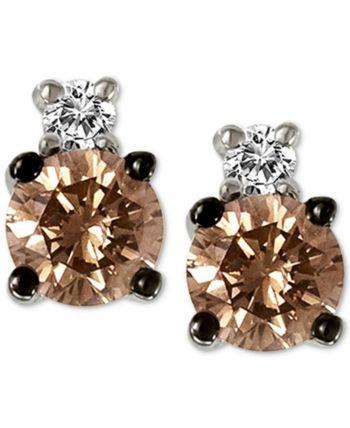 Le Vian Chocolatier Diamond Stud Earrings 1 3 Ct T W In