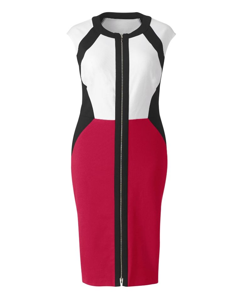Gotta Have It: Illusion Zip Front Dress from Simply Be #gottahaveit