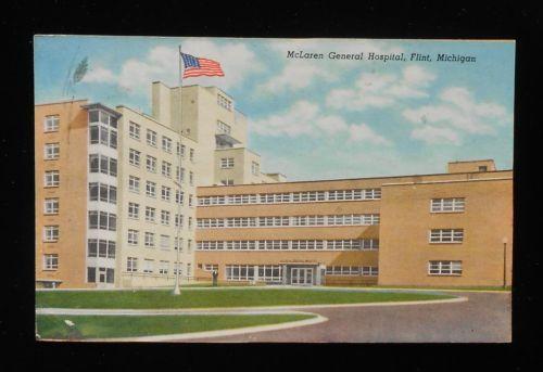1940s Mclaren General Hospital Flint Mi Genesee Co Postcard Michigan Flint Michigan Michigan Flint
