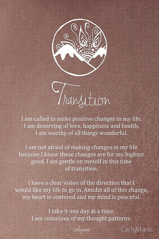 Affirmation - Transition Canvas Print by CarlyMarie